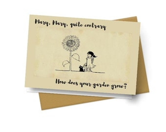 Mary, Mary Quite Contrary Note Cards - Set of 10