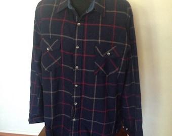1980's Flannel Shirt XL