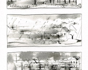 Original drawing 'images-speed', ink on paper