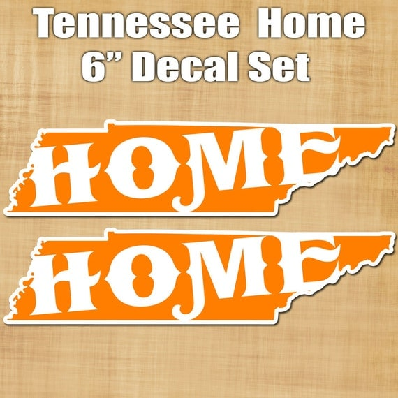 Tennessee Home Decal Set - Tennesse Home Sticker Set - Yeti Cooler sticker - Beer Fridge Sticker - Tennessee sticker
