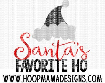 Santas Favorite Ho Christmas SVG DXF eps and png Files for Cutting Machines Cameo or Cricut