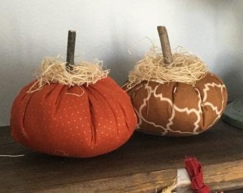 Fabric Pumpkins, Thanksgiving Decor, Shabby Chic Pumpkins, Fall Decor, Thanksgiving Centerpiece
