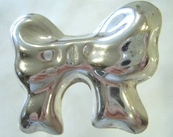 Vintage Sterling Silver 925 Puffy BOW BROOCH Pin Pendant 8.8 grams Mexico TM-96