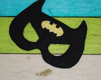 Deluxe Felt Mask -- Kids Mask – Inspired by Batman -- Costume – Dress-Up -- Halloween -- Pretend Play -- Party Favor