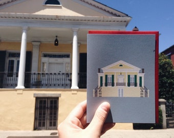 New Orleans Greeting Card, Beauregard-Keyes House, Preservation, Historic, Architecture Louisiana