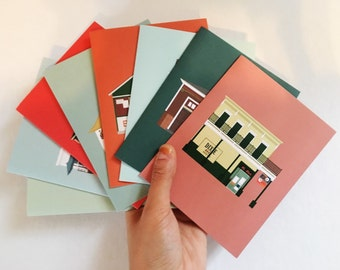 New Orleans Greeting Card 8-Pack, Bars, Dive Bars, Architecture, Louisiana