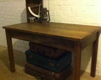 Vintage School Science Table