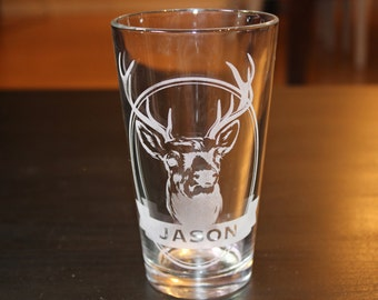 Personalization Name Stag Pint Cup -Father's Day Gift