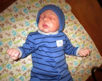 Newborn Reborn Baby Boy Doll 19in. 4lb. Born on 07/17/16