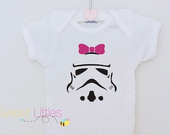 Star Wars Inspired Onesies/Storm Trooper/Baby Girl/Star Wars Fanatic/Geek/Nerd/Cute/The Dark Side/Birthday Gift/Fan apparel/Movie/Classic