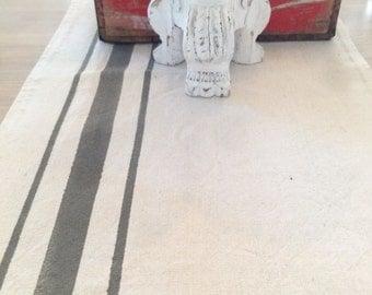 Grain Sack Table Runner, Farmhouse Style - Canvas Drop Cloth