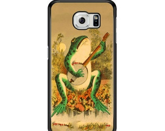 Vintage Frog Country Banjo for Samsung Galaxy S3 / S4 / S5 / S6 / S6 Edge / S6 Edge Plus / S7 / S7 Edge Samsung Galaxy Phone Cover - Case