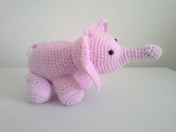 Elephant Baby Rattle, Baby Toy, Crochet Amigurumi Elephant ...