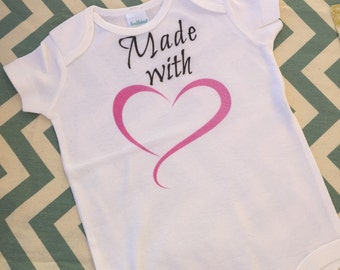 Infant onesie-Heart