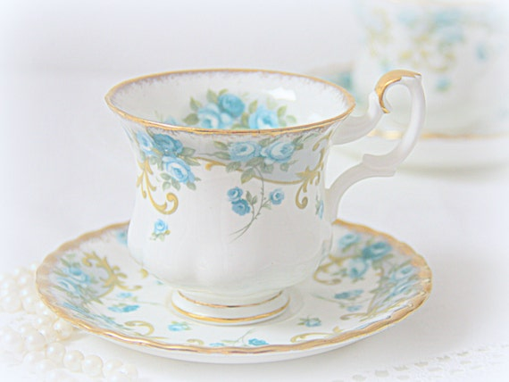 Vintage Royal Albert Bone China Sheraton Series 'Veronica' Cup and Saucer, Lady Size, England