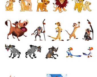 24 Stand Up The Lion King Edible Premium Wafer Paper Cake Toppers