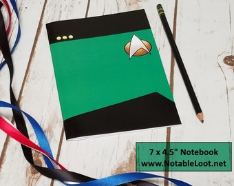 "Star Trek Log Book 7x4.5"", Next Generation Medical devision mini notebook, Star Trek sketchbook, TNG party favor, Star Trek gift"
