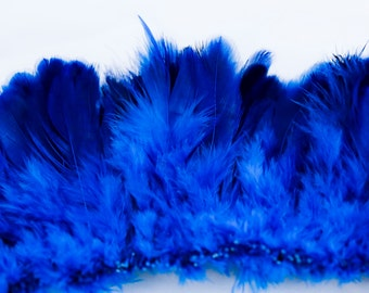 """Royal blue plumage  feathers 2"""" - 3"""""""