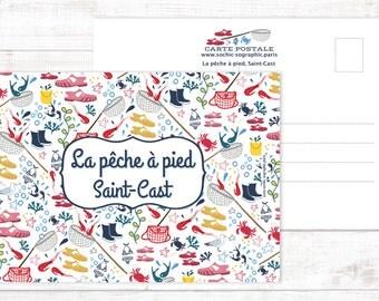 Postcard La pêche à pied à Saint-Cast