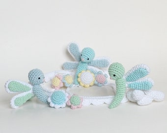 Baby Mobile, Crochet Dragonfly Mobile, Dragonfly Crib Mobile, Handmade Baby Mobile, Crochet Baby Gift