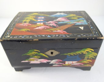 Scenic Japanese Jewelry Box