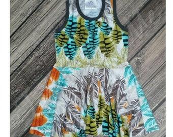 Size 3 Feathers Peplum Dress
