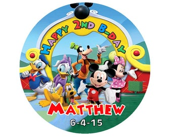 Mickey mouse clubhouse round label Sticker