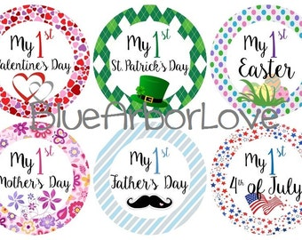 Baby's First Holidays Onesie Stickers, Baby Shower Gift