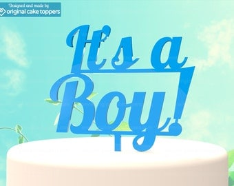 """Baby Shower Cake Topper - """"It's a Boy"""" - BLUE - OriginalCakeToppers"""