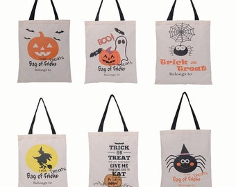 Personalized Halloween Sack W/ Handles, Halloween Sack, Halloween Bag, Halloween Bucket, Trick or Treat Sack, Trick or Treat Bag