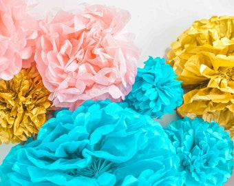 Set of  Paper Pom Poms