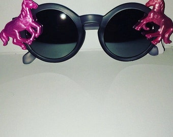 Hipster Horses (Sunglasses) Pink