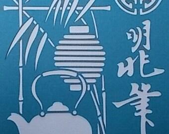Oriental Tea Garden Stencil