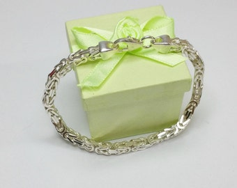 925 Silver King chain/bracelet 18 cm 4.2 mm SA123