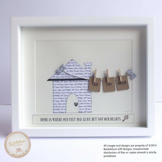 New Home Gift Housewarming Gift Word Art Personalised