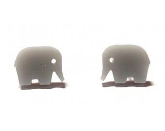 Elephant Earrings - Grey, Elephant Stud Earrings, Elephant Studs, Grey Elephant Earrings, Elephant Jewellery, Mini Elephant Earrings