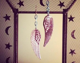 Angel Earrings Wing Earrings Repurposed Handcrafted