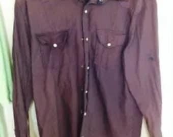 Ditch Plains Purple Snap Shirt Size Large