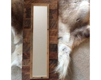 Rustic Barnwood Mirror - On Sale was 129.00 - 50% off