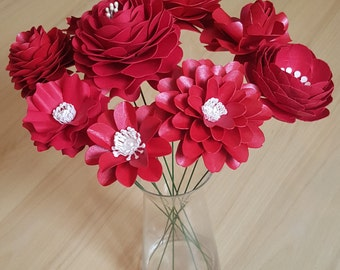 Paper Flower Bouquet-Wedding Bouquet-Birthday Gift-Home or Special Occasion Decorations.