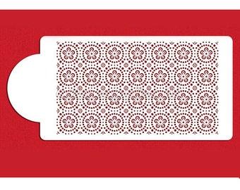 Circle lattice design print