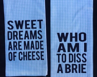Cheese Lover Hand Towels