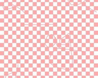 Flamingo Checkered Cardstock Paper
