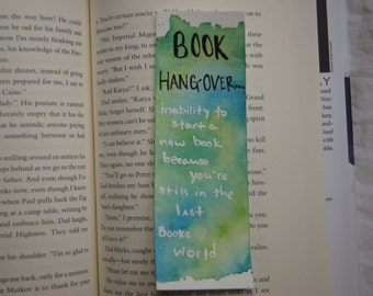 Book Hangover BookMark