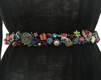 Handmade Belt with beads code B022