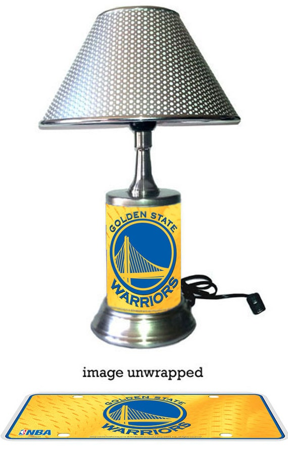 Golden State Warriors Lamp With Chrome Shade
