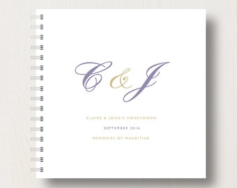 Personalised Honeymoon Memory Book or Album