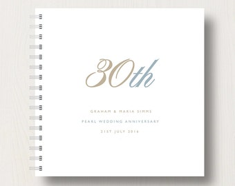 Personalised 30th Pearl Anniversary Book or Album