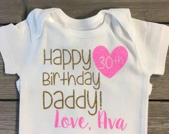 Happy Birthday Daddy/Mommy Onesie or Shirt