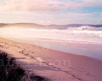 Australian Beach Sunset Landscape Home Decor Wall Print Stunning View Tasmania Bruny Island Wanderlust Travel Fine Art Photography